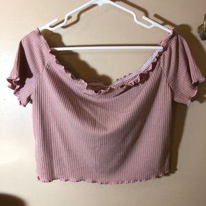 SHEIN Cropped Pink T-Shirt